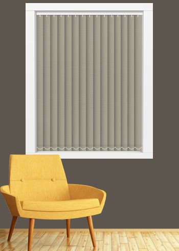 Blockout Vertical - Affinity 89mm Slats - Macadamia
