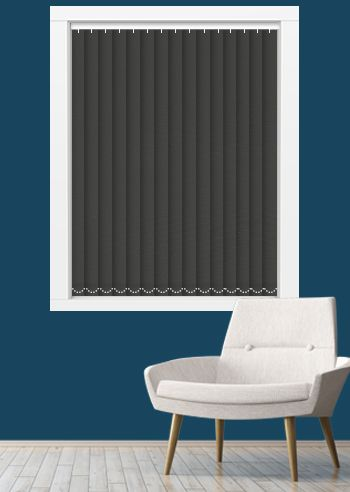 Blockout Vertical Replacement Slats - Affinity - Thunder