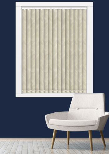 Blockout Vertical - Hylites 89mm Slats - Frosted Beige