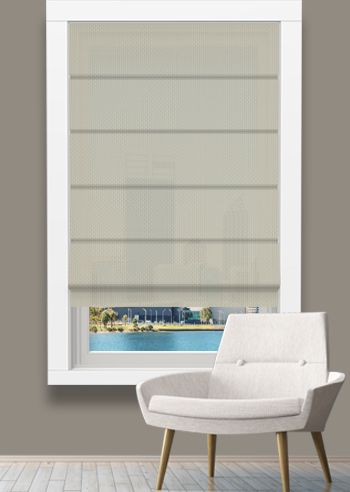 Screen Roman - Solarscape - White Beige