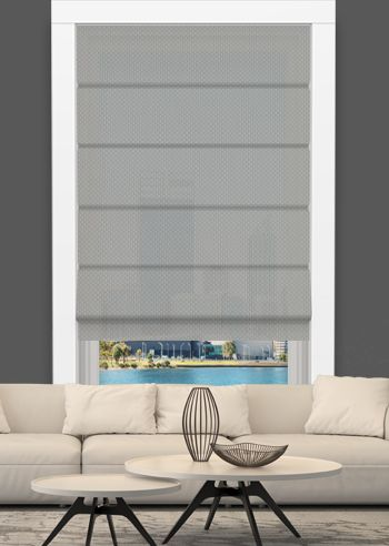 Screen Roman - Solarscape - White Grey