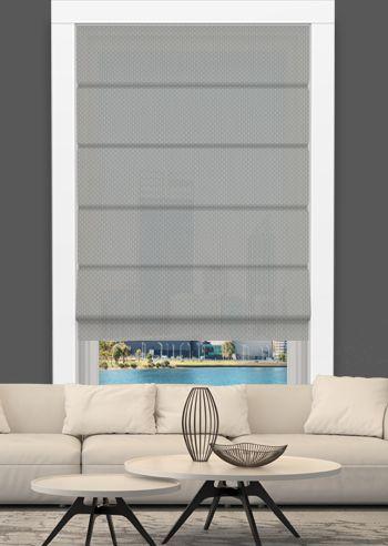 Screen Roman - Solarscape - White Grey