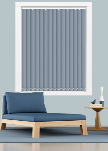 Blockout Vertical - Sunset 89mm Slats - Galaxy Blue