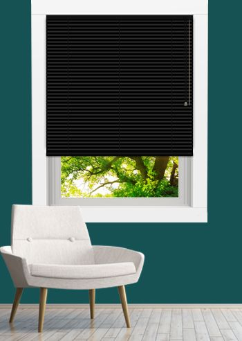 Venetian - Goodnighter 25mm Slats - Black Gloss