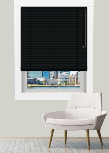Venetian - Standard 50mm Slats - Black Satin