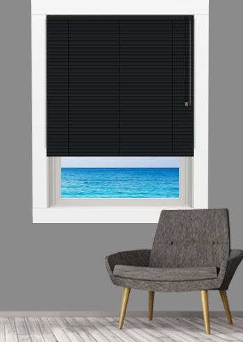 Venetian - Goodnighter 25mm Slats - Black Satin